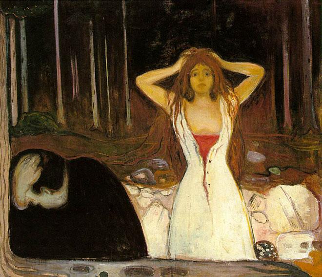 エドヴァルド・ムンク《灰》(1894年)