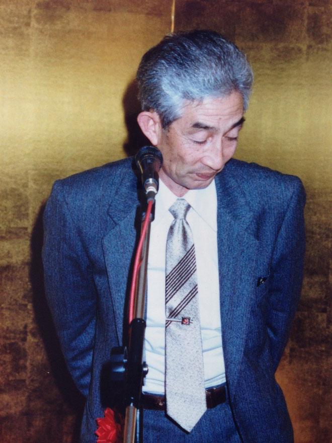 祝辞 東海地区から、駆け付けてくれた名古屋鳩界の重鎮の一人・協会常任理事・佐藤勝見