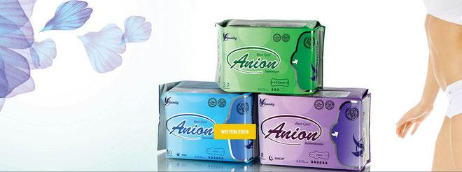 Foto: Aunity Damenbinden - Slipeinlagen - Damenhygiene