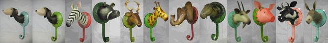 tier kleiderhaken,wandhaken tiermotive,wandhaken wildlife,wandhaken bauernhof,wandhaken hund