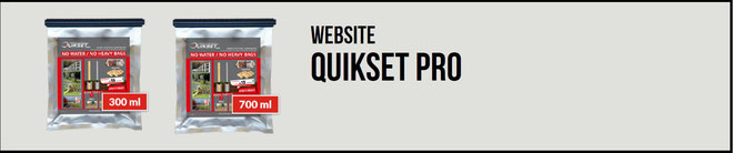 Quikset Pro, Alternative zu Beton