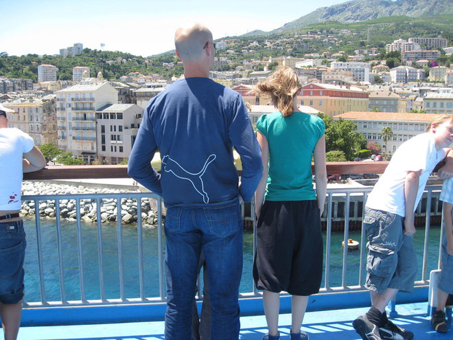 Fähre Korsika, Ankunft Bastia