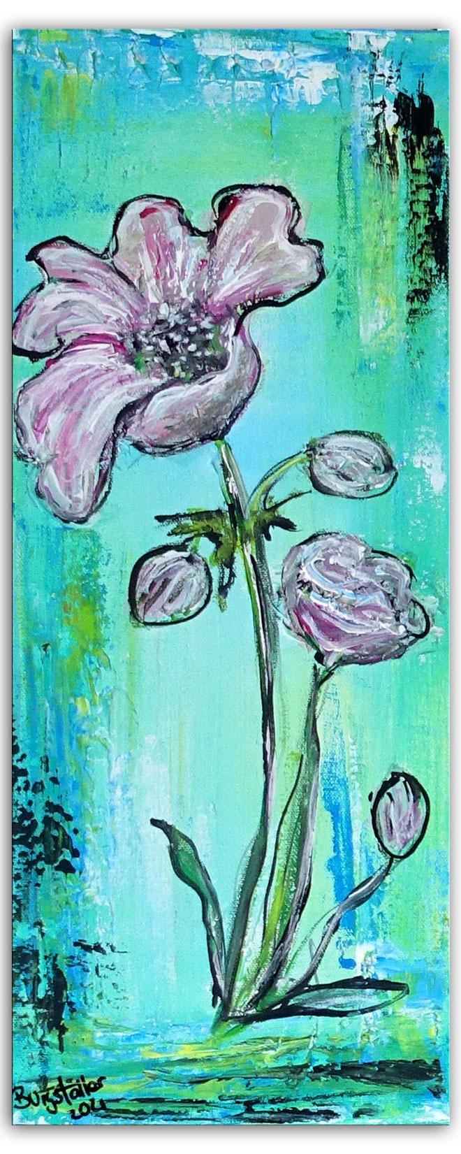 Eisblume Blumenbild Blumen Malerei Wandbild Blüte handgemalt