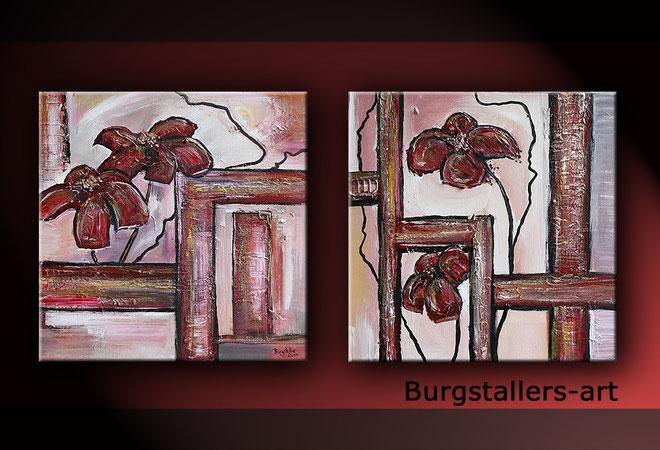Sonnenhut - Blumenmalerei - Blumen Bild Gemälde - abstrakte Kunst modern