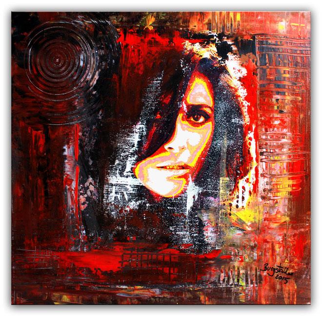 THELMA 2 - Umdruck Portrait - Abstrakte Bilder Moderne Gesichter Malerei
