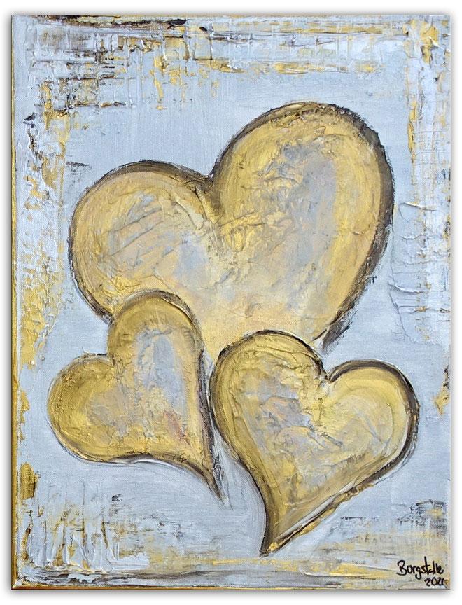 Herzbild 2019-14 - Herz Bilder Malerei abstrakt Acryl Gemälde Geschenk