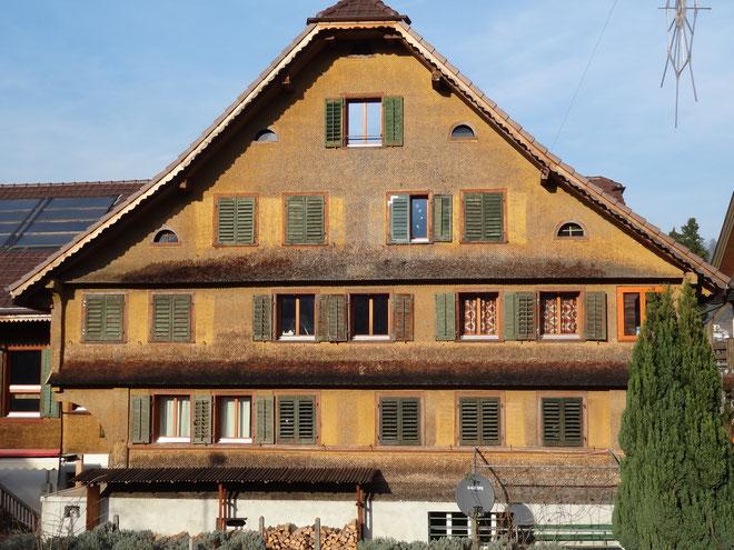 Bauernhaus Mettlen, Südfassade