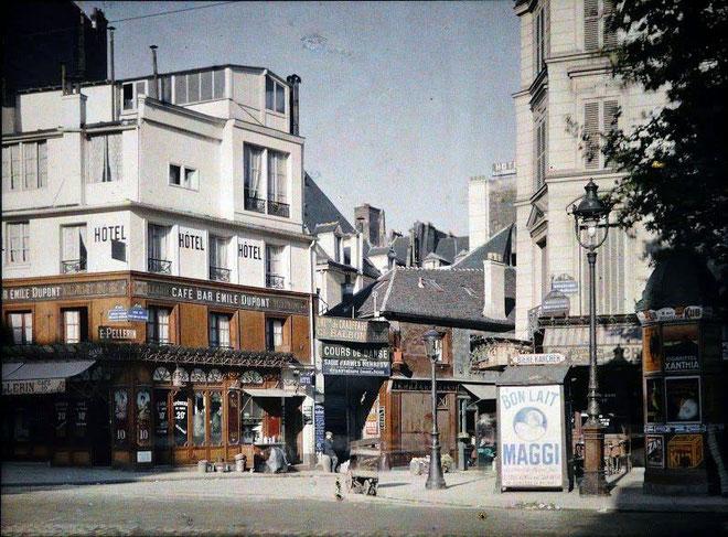 boulevard Beaumarchais, Paris, 1914, musée Albert Kahn