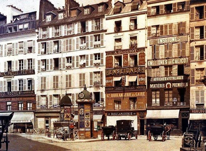 rue d'Aboukir, Paris, 1914, musée Albert Kahn