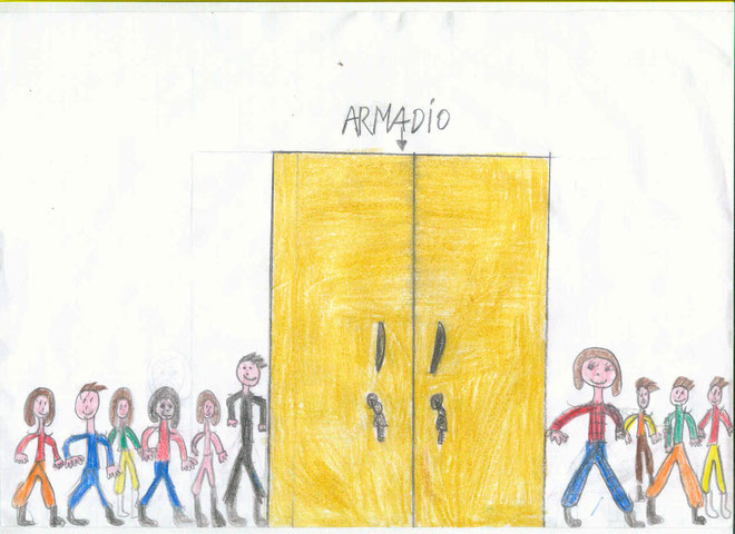 disegni dei bambini di Cavezzo