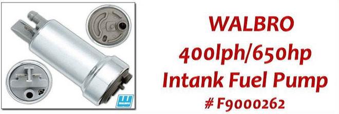 Walbro Fuel Pump NZ - Walbro F9000262 High Pressure 400lph/650hp Intank Fuel Pump - Nissan, Mazda, Toyota, Subaru, Honda, Ford, Holden