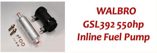 Walbro Fuel Pumps NZ - Walbro GSL392 High Pressure 255lph Inline/External Fuel Pump - Nissan, Mitsubishi, BMW, Mazda, Toyota, Subaru, Honda, Ford, Holden