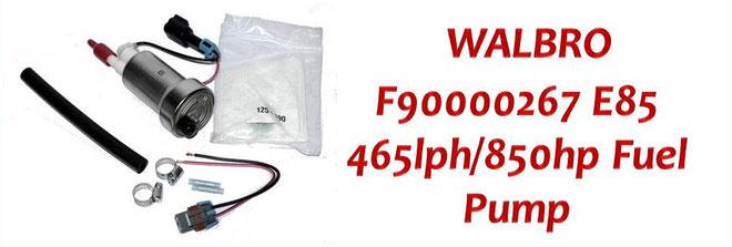 Walbro Fuel Pump NZ - Walbro F9000267 High Pressure 465lph/850hp Intank Fuel Pump - Nissan, Mazda, Toyota, Subaru, Honda, Ford, Holden