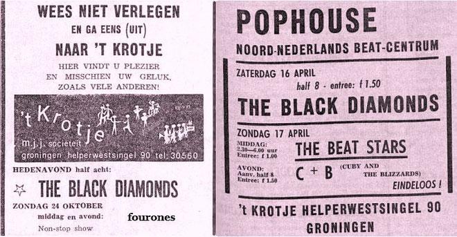 Nieuwsblad voor het Noorden 10-04-1965 (L) 16-04-1966 (R)
