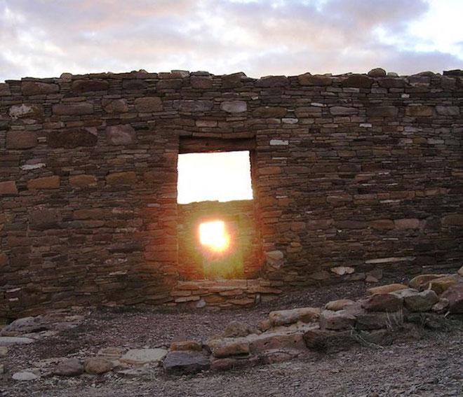 Fall equinox solar alignment archaeology Chaco Canyon