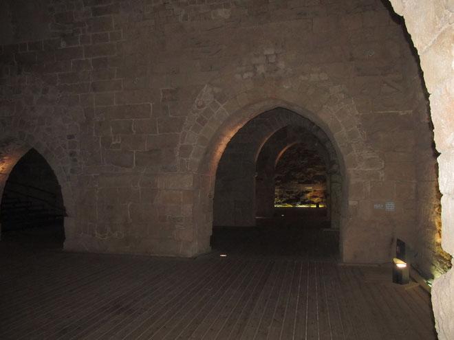 реставрированные залы крепости госпитальеров