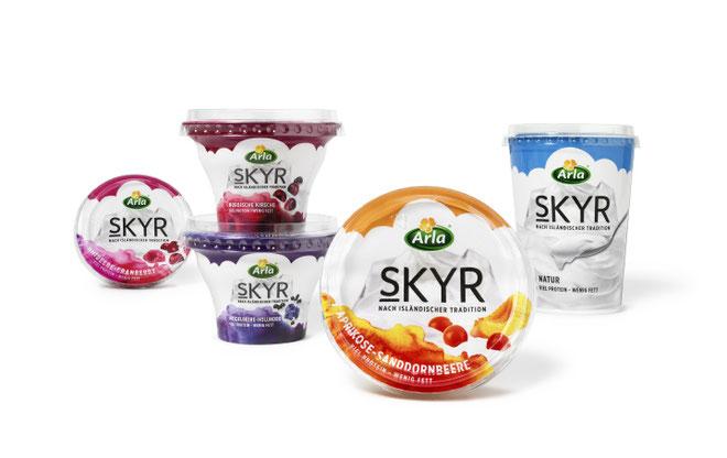 Arla - Skyr  - Packaging  - Verpackung - Design -  DesignKis - 2015 - Jugurt - Becher -2015