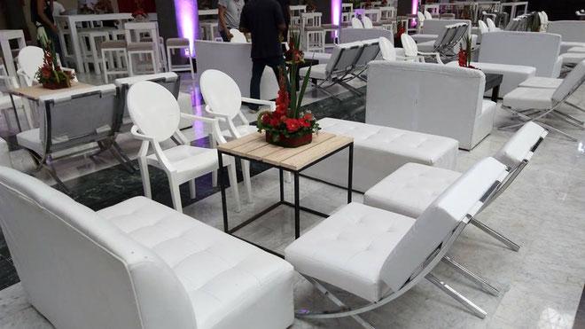 Mobiliario lounge salas y periqueras