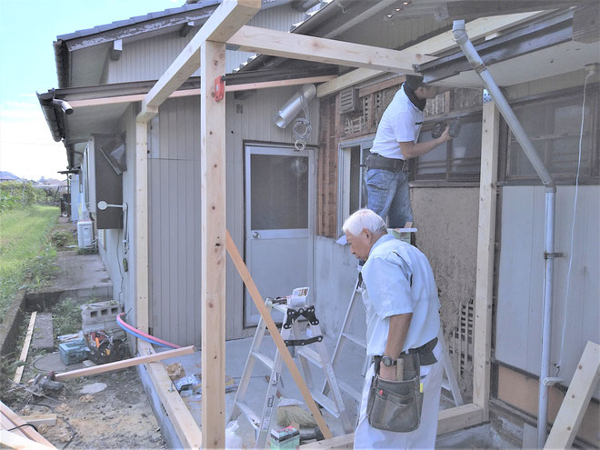 イクメンリフォームによる、岐阜県瑞穂市の住宅の増改築・リフォーム工事中!