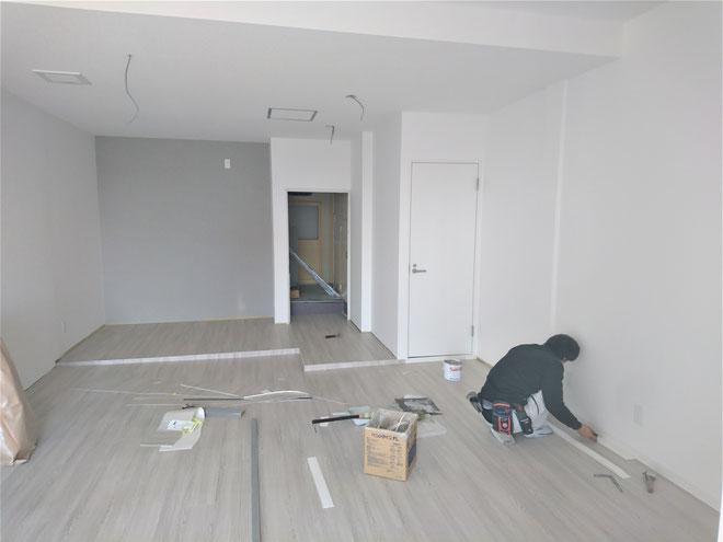 岐阜県岐阜市 ネイルサロンの新規開業店舗の内装工事