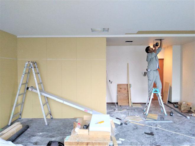 イクメンリフォームによる岐阜市の新規開業の店舗の激安内装・改装工事