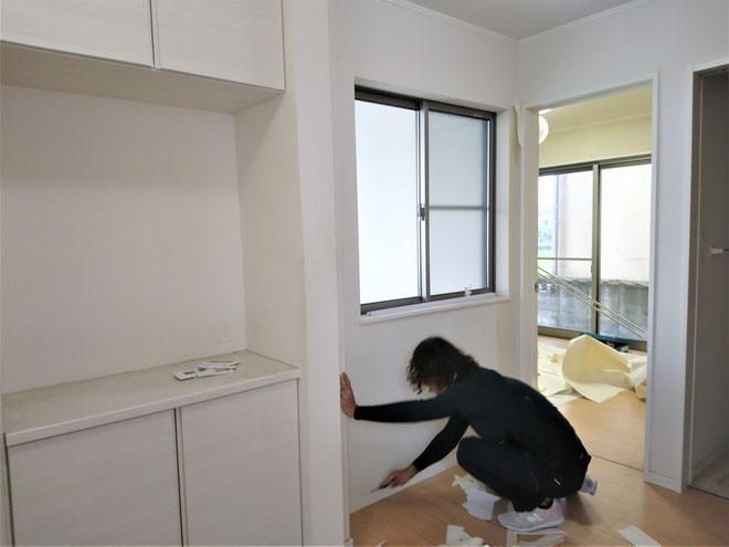 愛知県岩倉市 中古住宅の激安クロス張替え