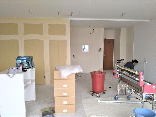 イクメンリフォームによる岐阜市の新規開業の店舗内装工事中!
