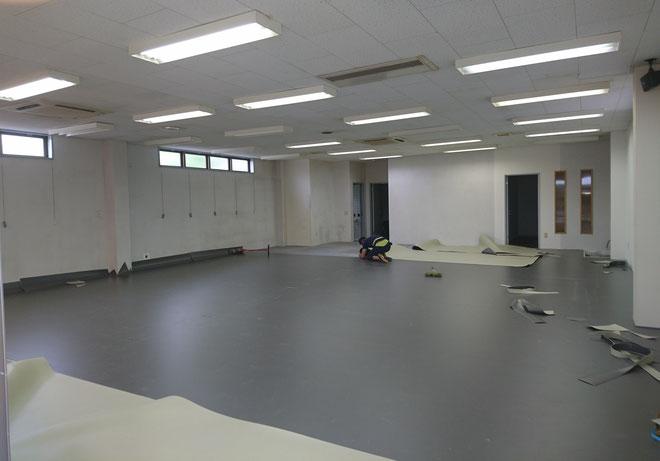 愛知県 舞台用床シ-ト TNフロア貼り