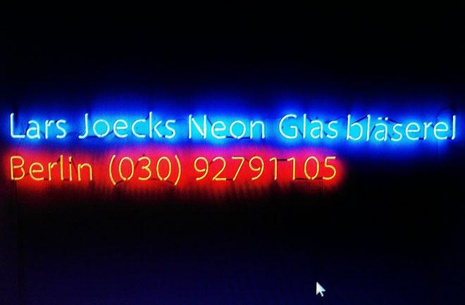 Neonschrift Berlin // Neonschrift Joecks