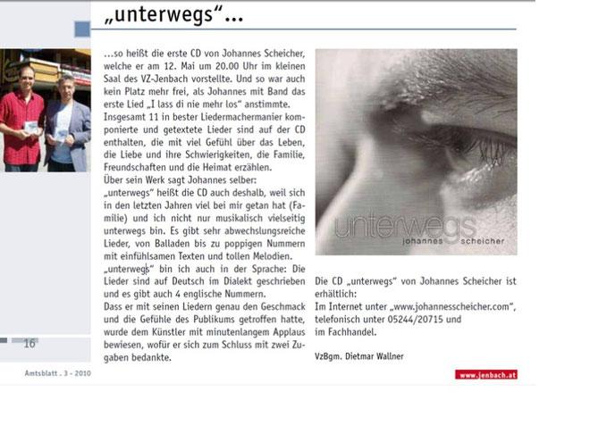 Im Jenbacher Amtsblatt 3/2010