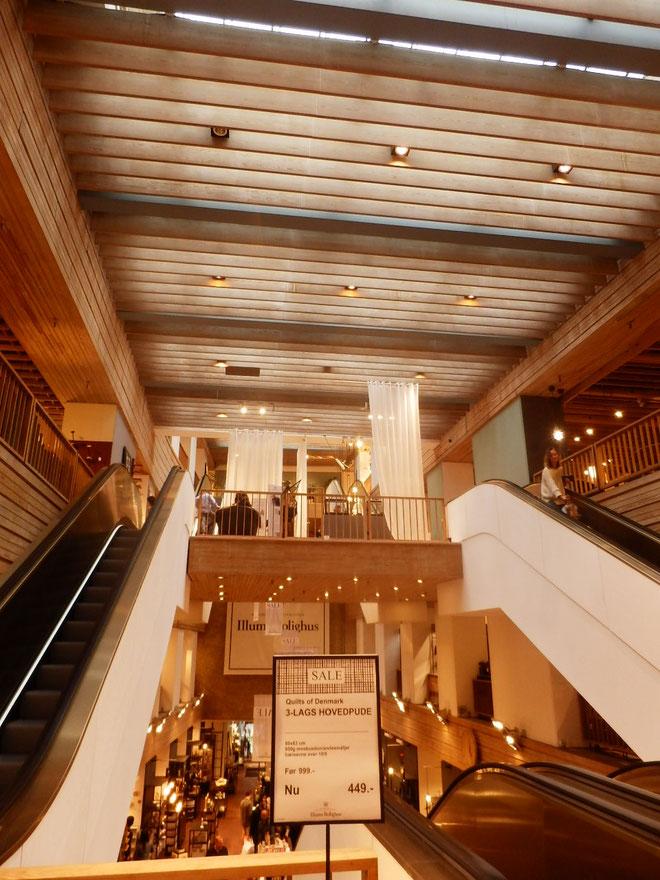 コペンハーゲンの高級店イルムスの照明