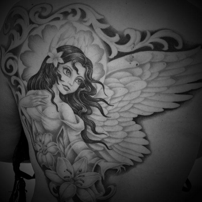 天使タトゥー