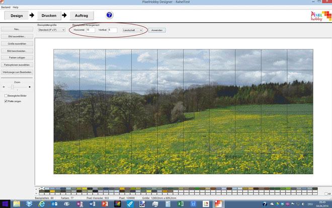 """Die Optionen """"Landschaft"""" (=Breitformat) oder """"Porträt"""" (=Hochformat) beziehen sich auf das Seitenverhältnis. Sie werden vom Programm automatisch ausgewählt und müssen nur bei Bedarf geändert werden."""