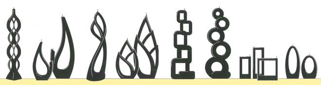 Kollektion mehrflammige Kerzen
