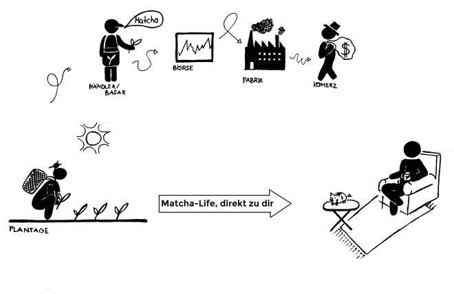 Bild: Matcha-Life Prinzipien Handelswege fair trade direkthandel