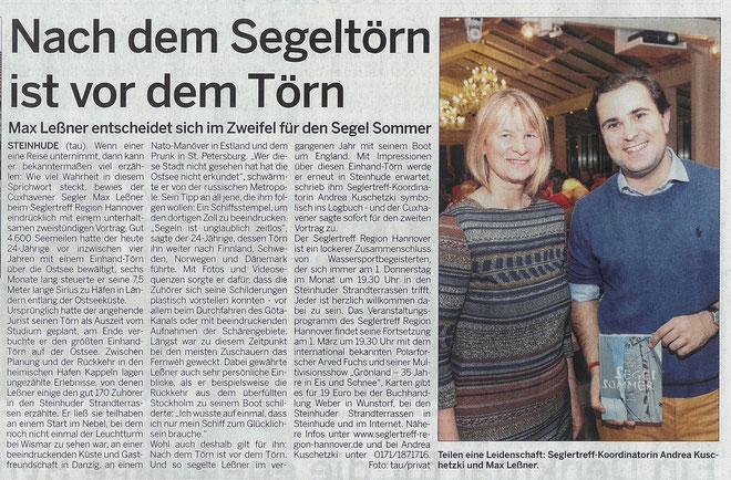Wunstorfer Stadtanzeiger, 8. Februar 2018