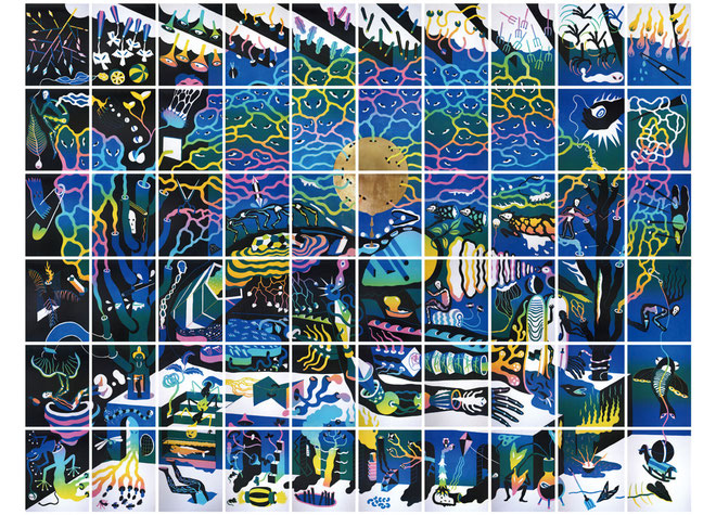アグン・プラボウォ《不安のプラズマを採取する》(2020年)