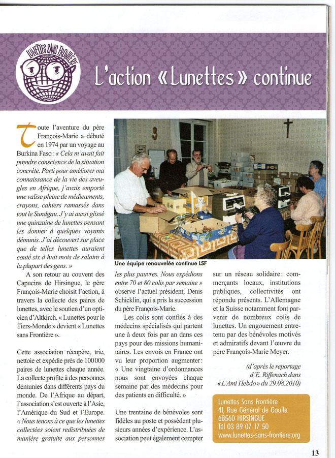 Historique de Lunettes sans Frontière