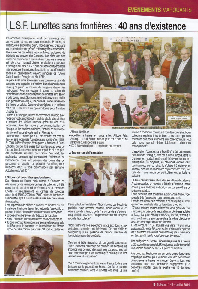 bulletin municipal de Hirsingue juillet 2014
