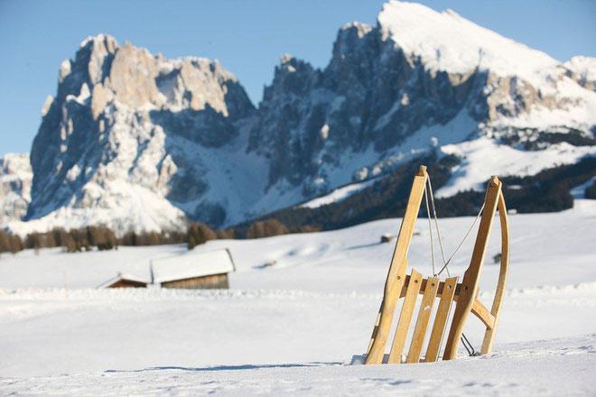 Piste da slittino e vacanze sulla neve al Passo di Resia in Val Venosta - Trentino Alto Adige