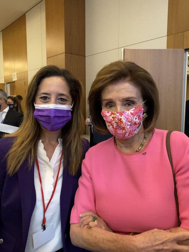 Anissa KHEDHER et Nancy PELOSI