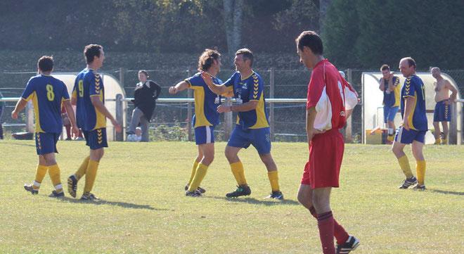 jb (0-1), Alex (0-2)(0-3), Nico (0-4), Dudule (0-5), Nico (0-6), Damien (0-7)