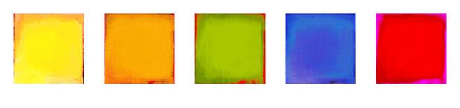 5er - Serie Farbfelder 28x28 auf Forex - 150.- incl. Versand / Bestell Nummer: #FF 01 / auch in 20x20cm lieferbar für 95.- / #FF01-2020