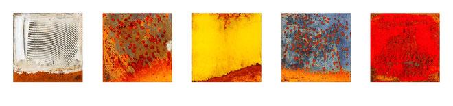 5er - Serie Eisen 20x20cm auf Forex 95.- incl. Versandkosten / Bestell Nummer: # EF03