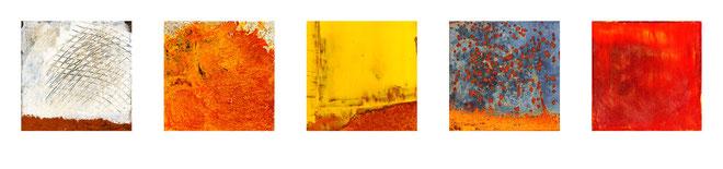Bilder auf Eisen, Rost, leuchtende Farben