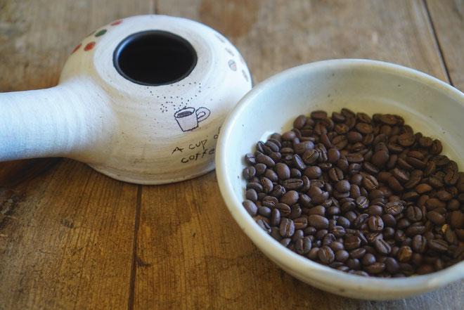 陶芸家 ブログ 焼き物 陶芸作品 茨城県笠間市 コーヒー コーヒーロースター 焙烙 自家焙煎 耐熱 土鍋