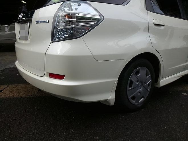 Honda フィットシャトル リヤバンパー&リアクォーター修理完成 0016