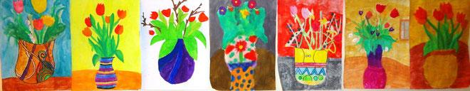 Vasenblumen in Blumenvasen - 2.NMS