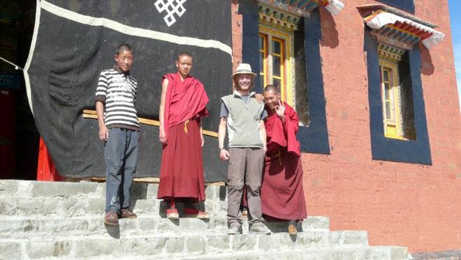 Lors d'une petite pause dans un monastere.