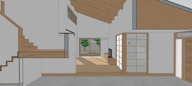 長野県 松本市 建築設計事務所 建築家 news設計室 丸山和男 住宅設計 実施設計 設計監理 島内の家Ⅱ